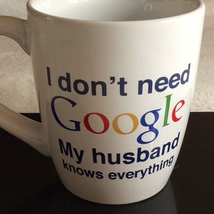 "Google ""HUSBAND"" Coffee Tea Hot Chocolate Mug NWOT"